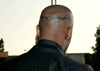 Jamie Foxx Scalp Tattoo